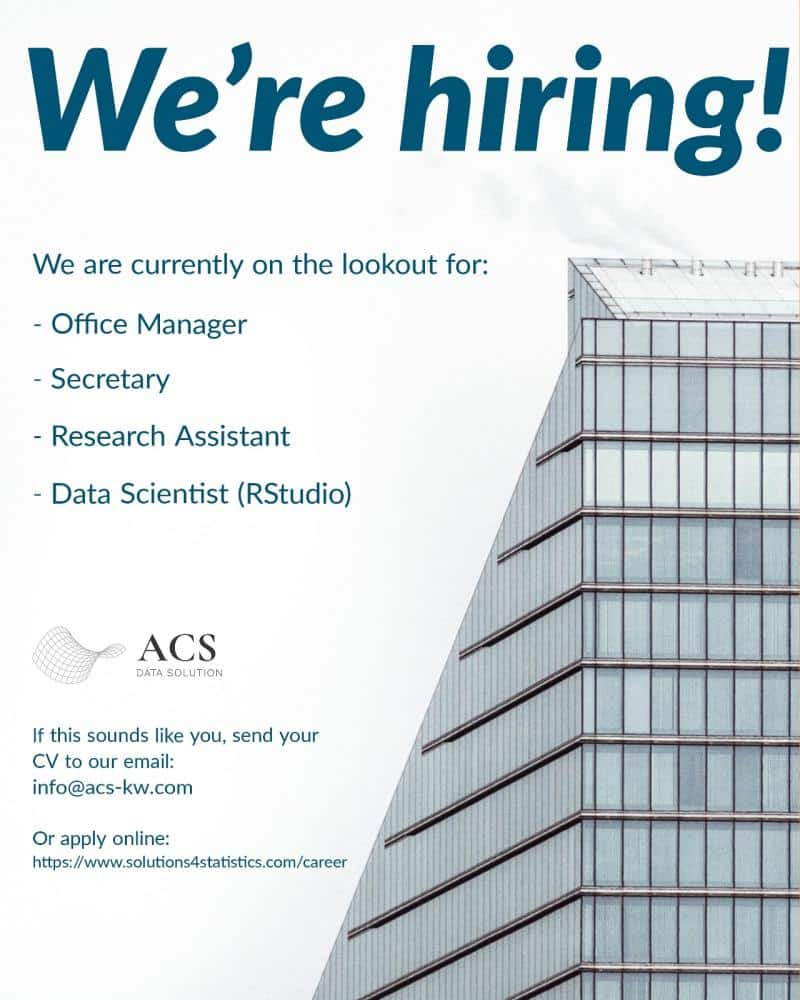 Q8 jobs, Secretary, Office Manager, Research Assistant, Data Scientist