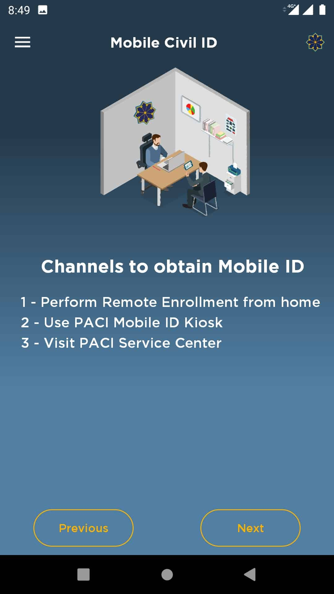 Activate Digital Civil ID, Kuwait Civil ID on Mobile or Tab, iiQ8, PACI 2
